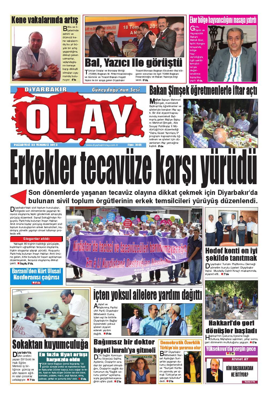 22 07 2013 Gazete Sayfalari By Diyarbakir Olaygazetesi Issuu
