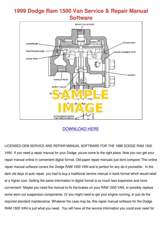 1999 Dodge Ram 1500 Van Service Repair Manual by GinaFitts - issuu