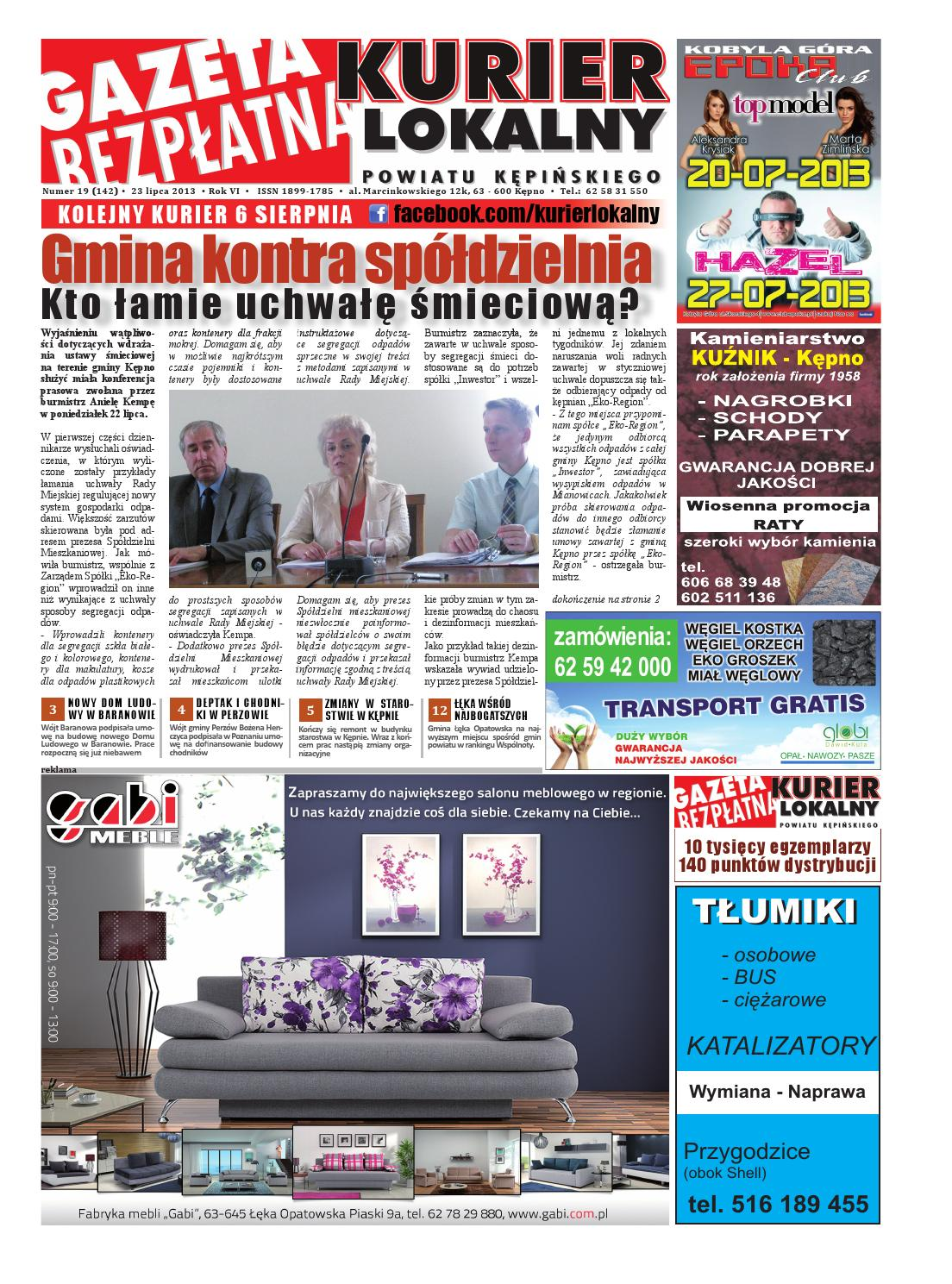 Gazeta Bezplatna Kurier Lokalny Kepno 142 By Kurier Lokalny