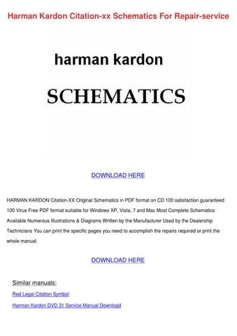Harman Kardon Citation Xx Schematics For Repa By Lupejensen Issuu
