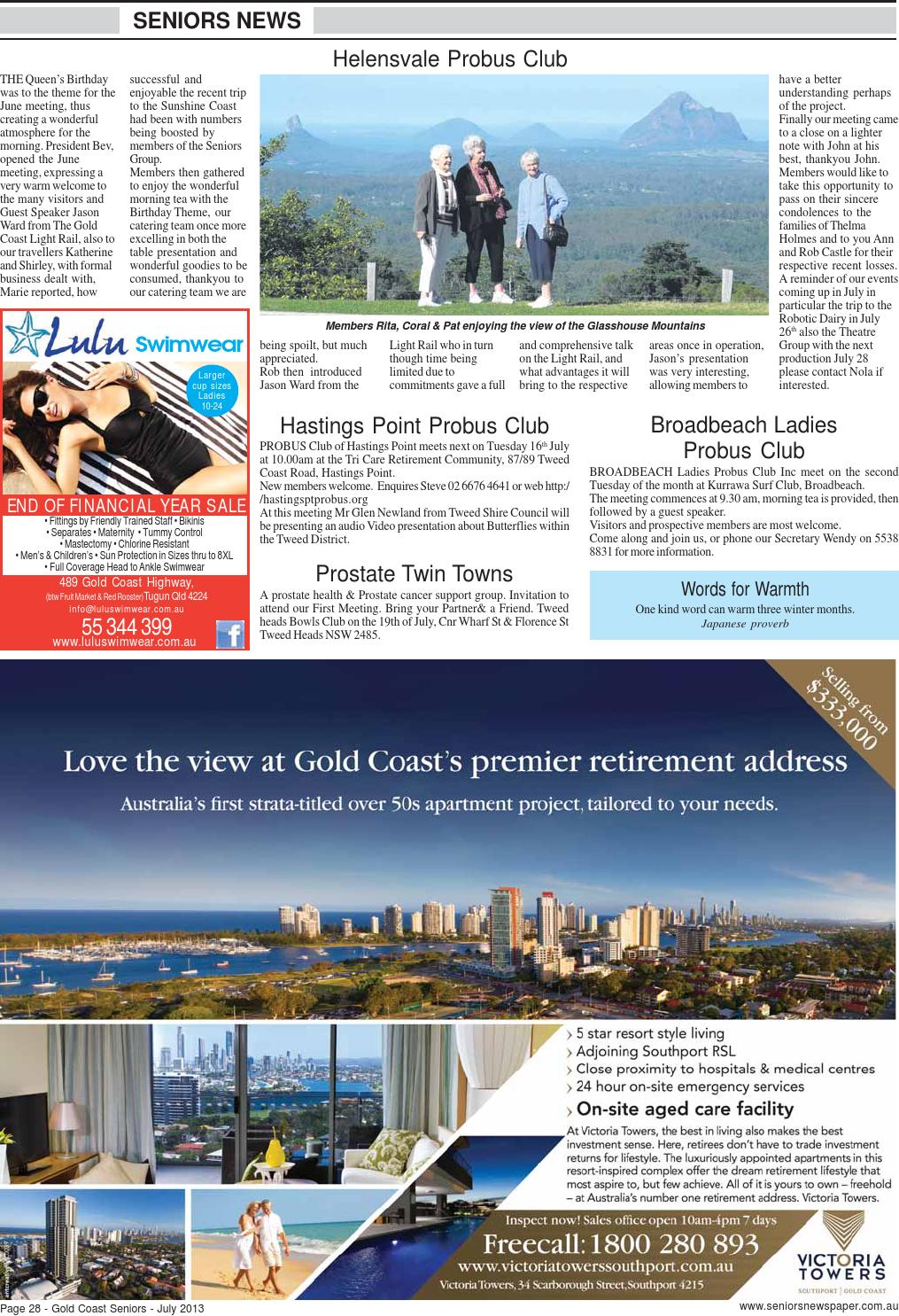 Gold coast tweed seniors newspaper july 2013