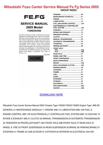 mitsubishi fuso canter service manual fe fg s by lupejensen issuu rh issuu com mitsubishi fuso canter workshop manual mitsubishi fuso canter 4m42 workshop manual