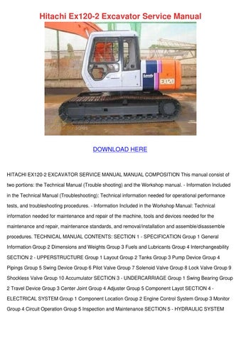 Hitachi Ex120 2 Excavator Service Manual By