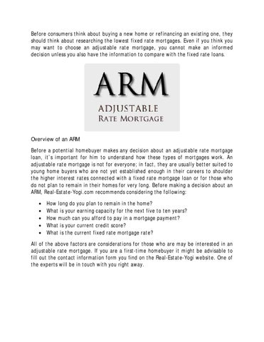 How Does Refinancing Work >> How Does An Adjustable Rate Mortgage Work By Real Estate