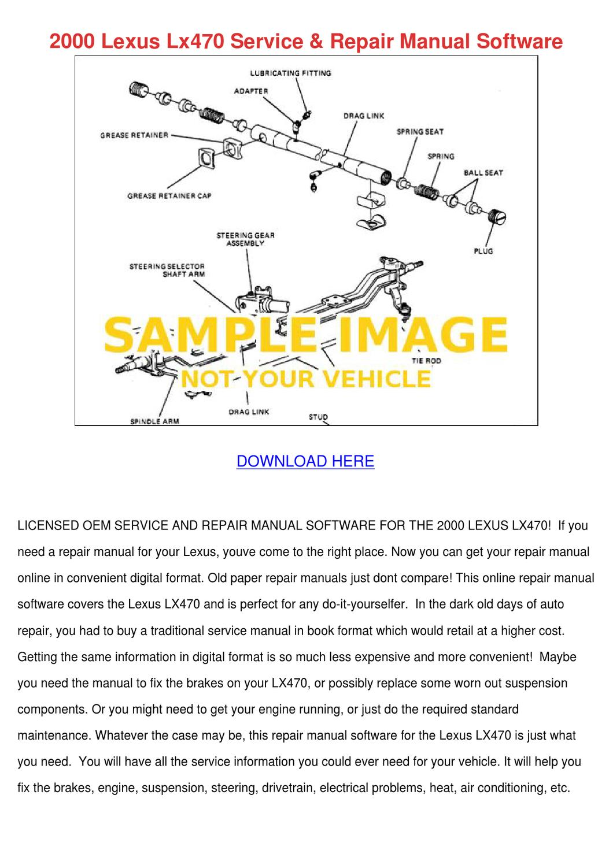 2000 Lexus Lx470 Service Repair Manual Softwa By Danielacasteel Issuu Wiring Diagram