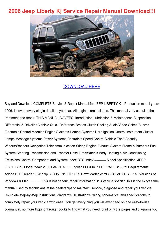 jeep repair diagrams jeep liberty service manual mediaparallelle  jeep liberty service manual