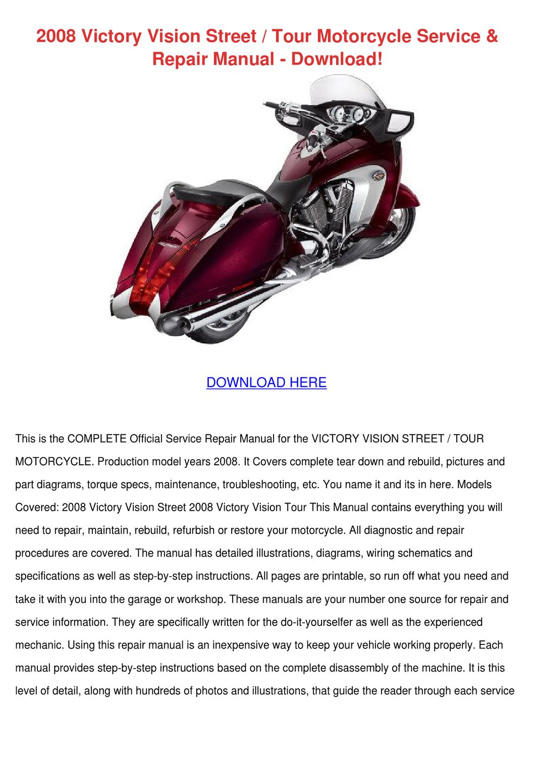 2008 Victory Vision Street Tour Motorcycle Se By Lindseyle