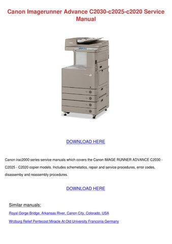 canon imagerunner advance c2030 c2025 c2020 s by lindseyle issuu rh issuu com Fast Canon Copier Fast Canon Copier