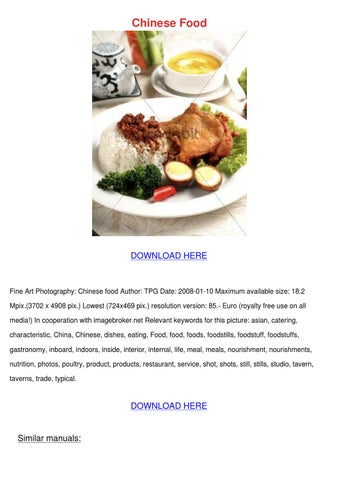 the globalization of chinese food pdf