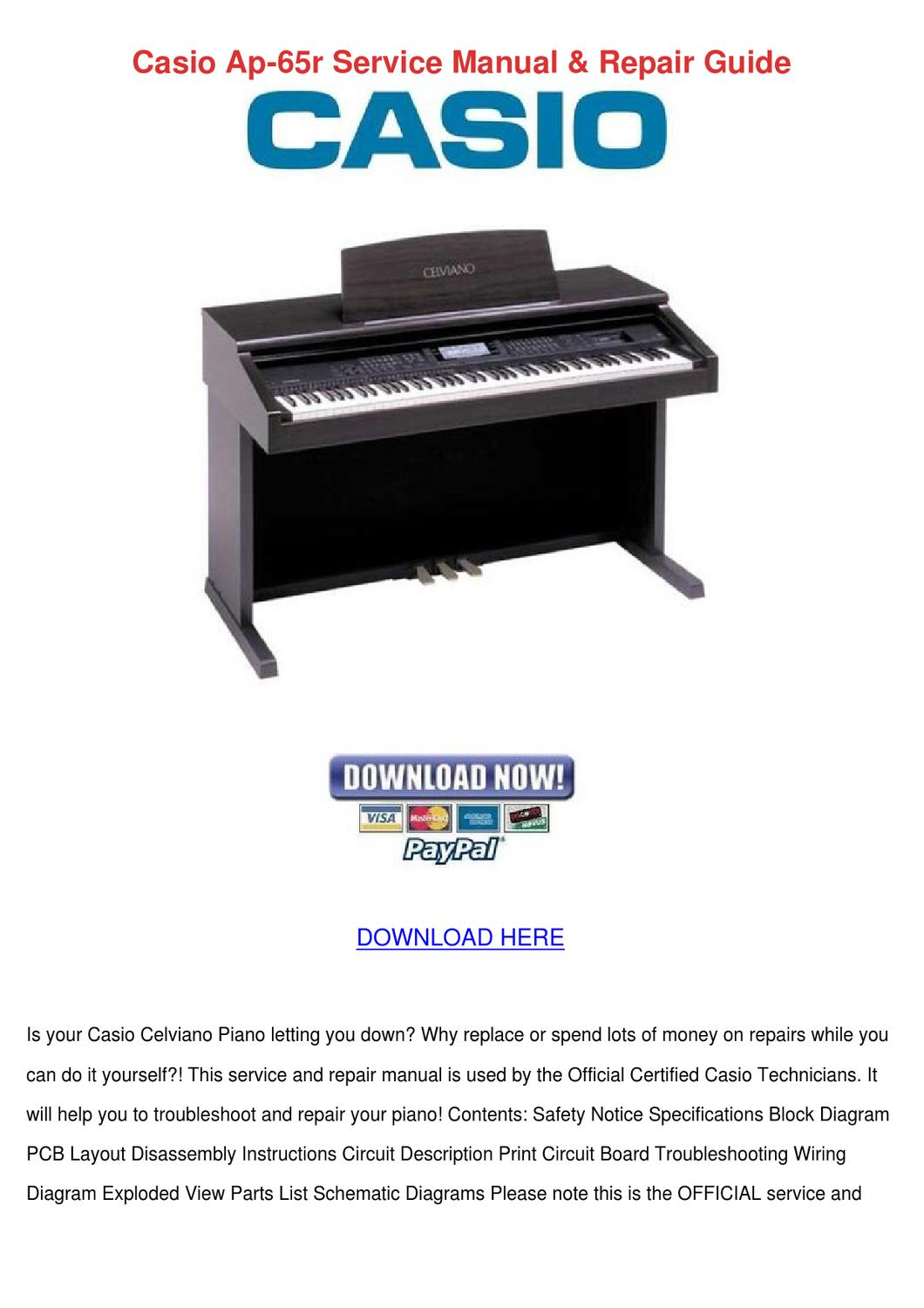 Casio Ap 65r Service Manual Repair Guide by DanielaCasteel - issuu