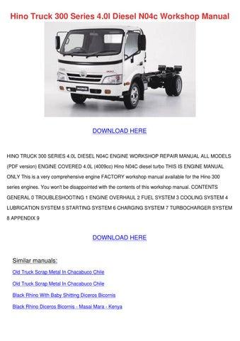Hino engine Overhaul manual