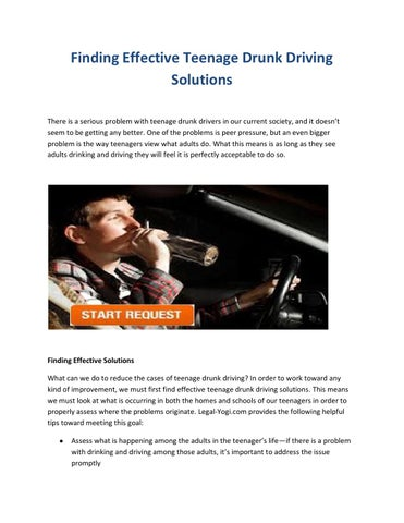 drunk driving problems and solutions