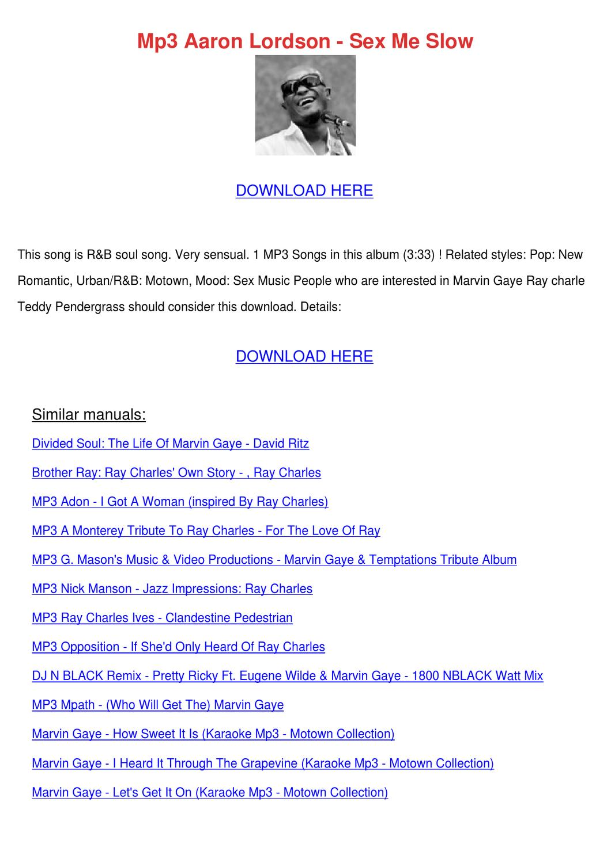 marvin gaye lets get it on mp3 download