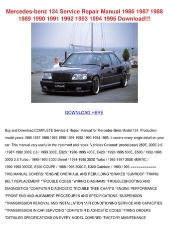 Mercedes Benz 124 Service Repair Manual 1986 by CorneliusBurt - issuu