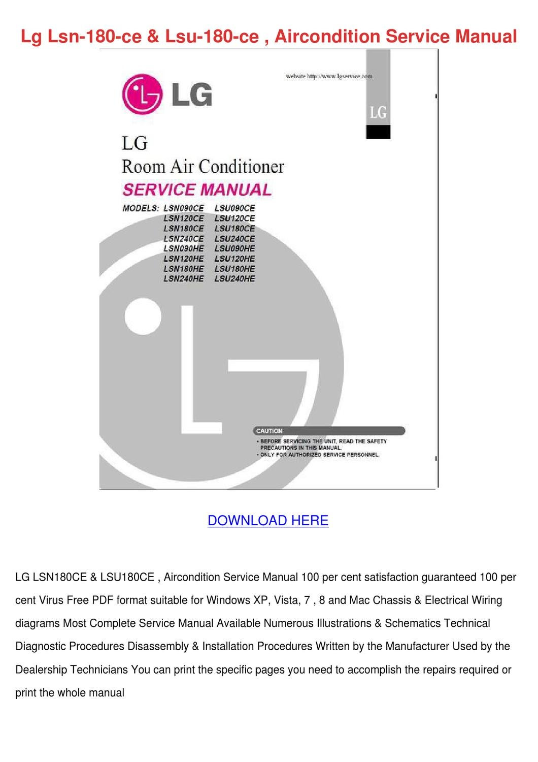 Lg Lsn 180 Ce Lsu 180 Ce Aircondition Service by KlausJeffers - issuu