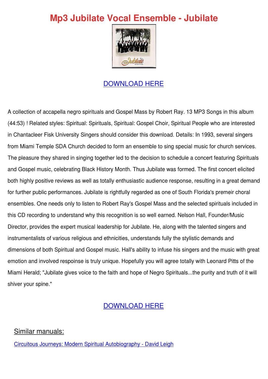 Mp3 Jubilate Vocal Ensemble Jubilate by MeganMclemore - issuu