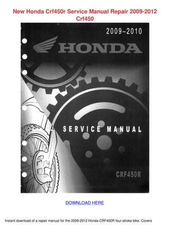 2009 honda crf450r service manual free download