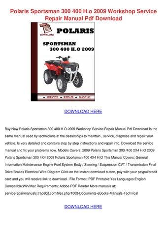 polaris sportsman 300 service manual