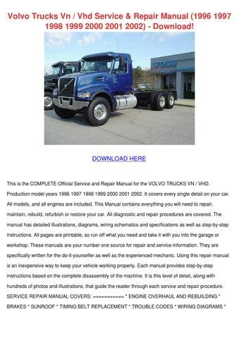 volvo trucks vn vhd service repair manual 199 by moniqueneeley issuu rh issuu com
