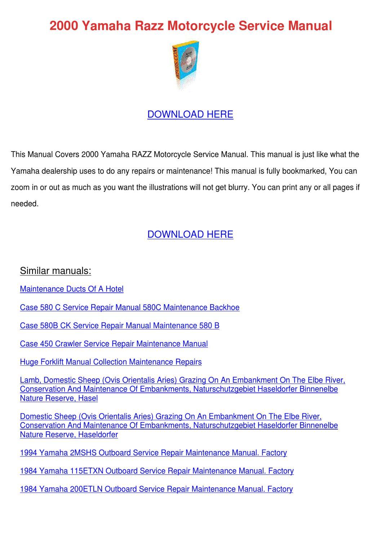 Case 580c Service Manual Download Yamaha Razz Wiring Diagram