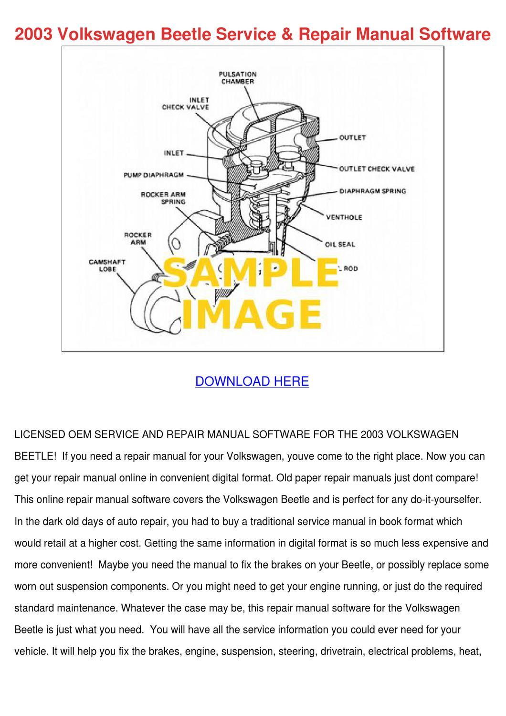2003 Volkswagen Beetle Service Repair Manual By border=