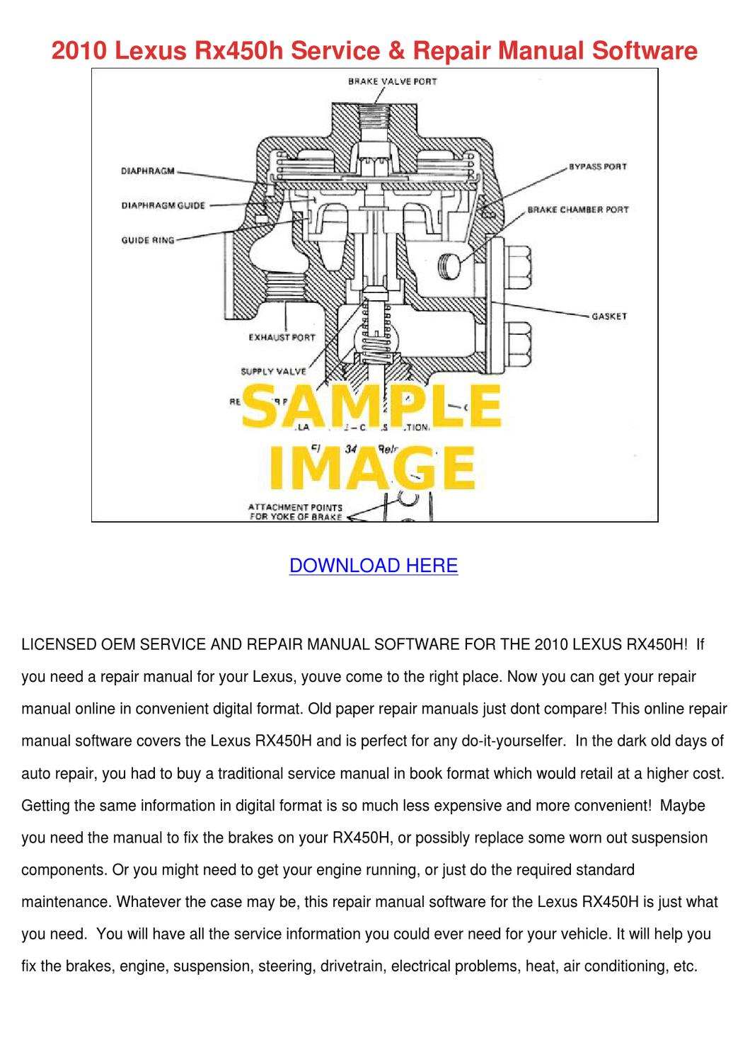 Lexus Sc300 Ac Repair Manual 5g Celica Wiring Diagram Array 2010 Rx450h Service Softw By Penninewell Issuu Rh