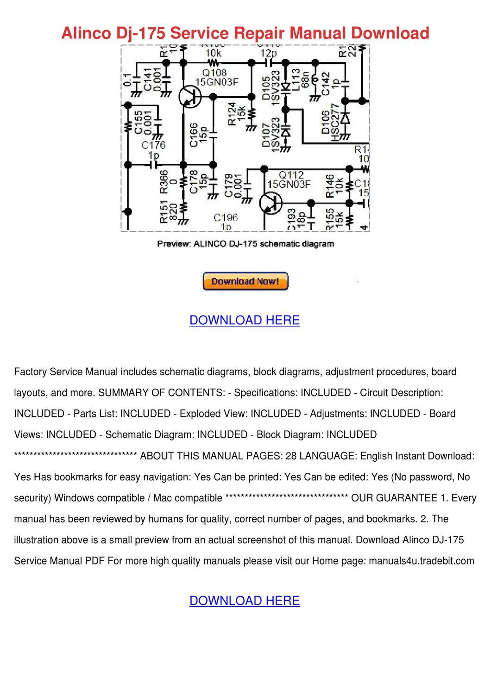 alinco dj 175 service repair manual download by meganmeier battery circuit diagram battery circuit diagram battery circuit diagram battery circuit diagram