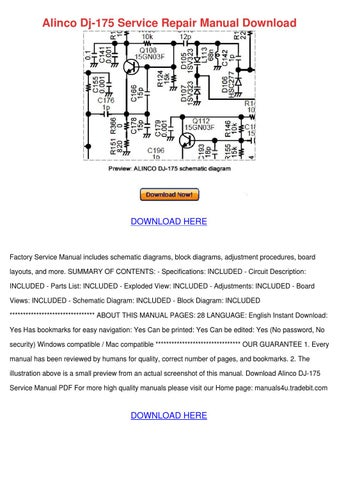 alinco dj 175 service repair manual download by meganmeier issuu rh issuu com