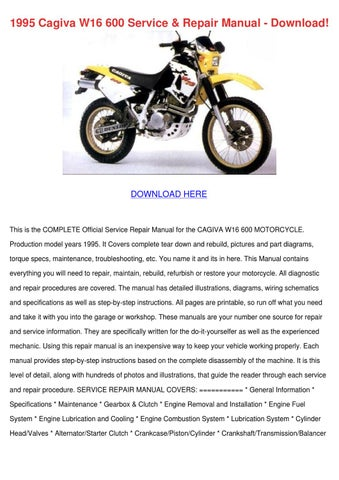 1995 Cagiva W16 600 Service Repair Manual Dow by DeannaChesser issuu