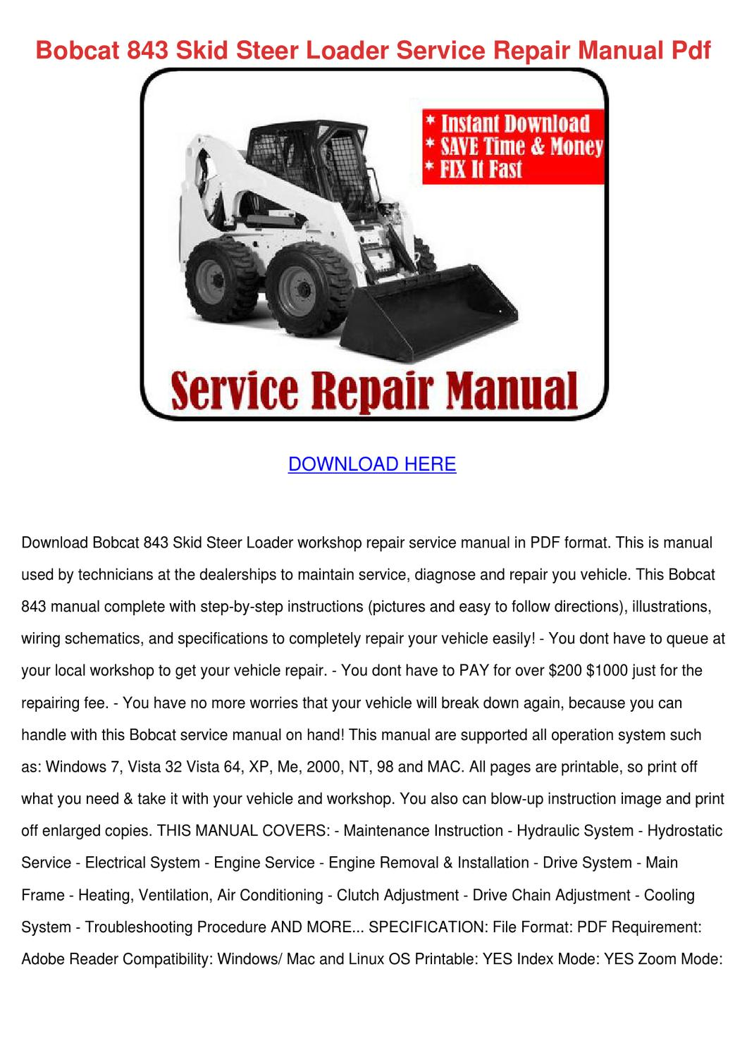 Array - 843 bobcat repair manual  rh   bolmenanteecas gq