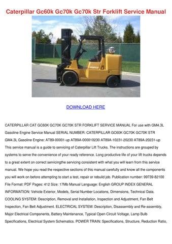 Caterpillar Gc60k Gc70k Gc70k Str Forklift Se by MeganMeier