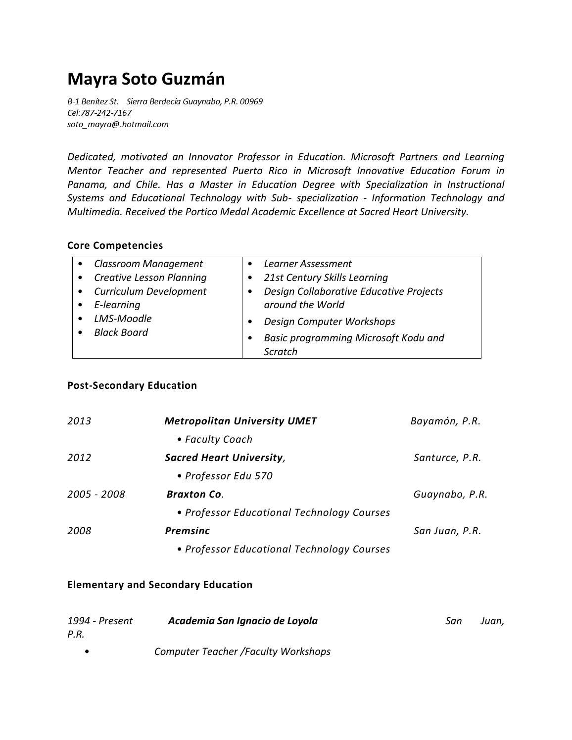 resume mayra soto 2013 by mayra soto