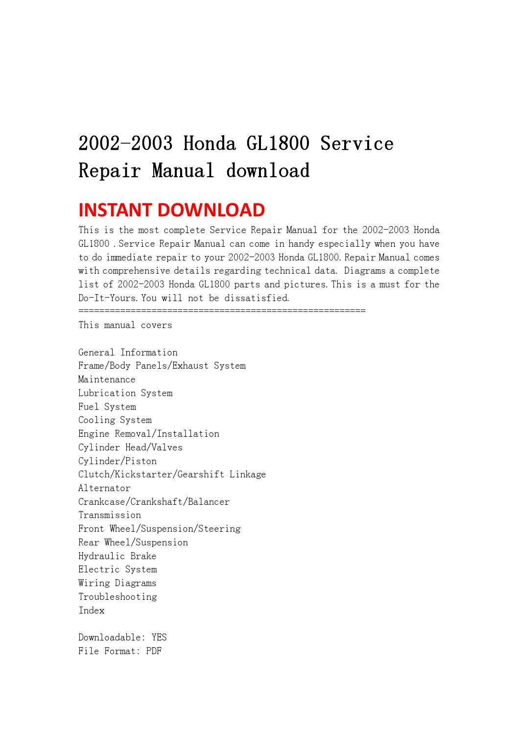 2003 Goldwing Wiring Diagram Simple Electrical Gl1800 Schematic Frame Just Honda 2002