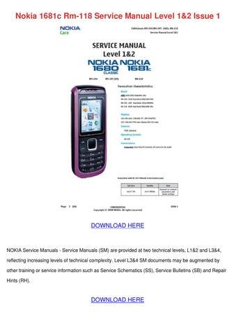 nokia 1681c rm 118 service manual level 12 is by edwardcronin issuu rh issuu com Verizon Nokia 6205 Nokia 6200