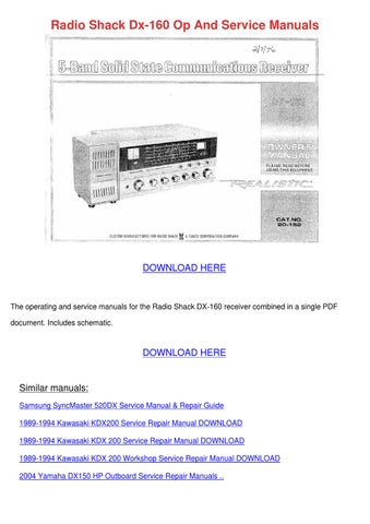 Radio shack service manuals | Radio Shack RadioShack Scanner PRO