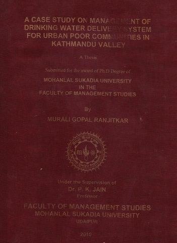 Phd thesis report on sanitation