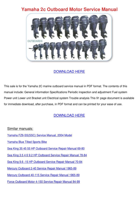 Mercury Outboard 91 Repair Manual Good Owner Guide Website 50 Hp Diagram Yamaha 2c Motor Service By Floraeason Issuu Rh Com Marine Manuals
