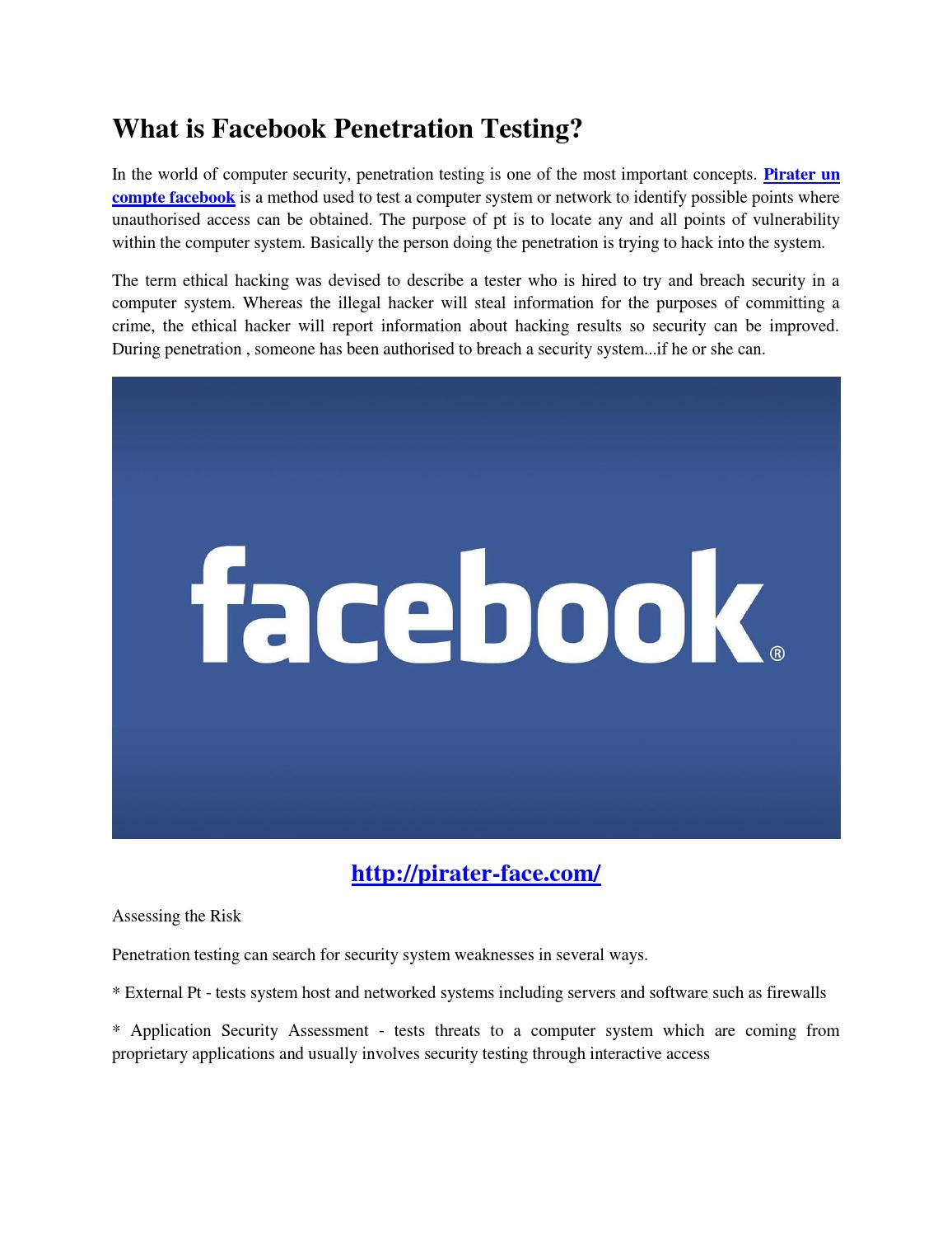 What is facebook penetration testing? by Mary Prewitt - issuu
