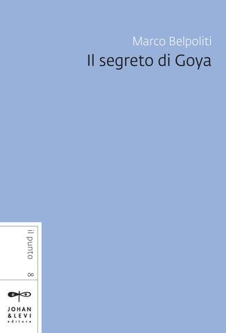 I Donchisciotte Del Tavolino.Il Segreto Di Goya By Johan Levi Issuu