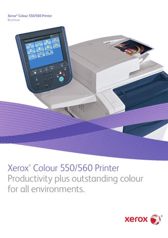Xerox Colour 550 560 Printer By Dylan Van Den Bosch Issuu