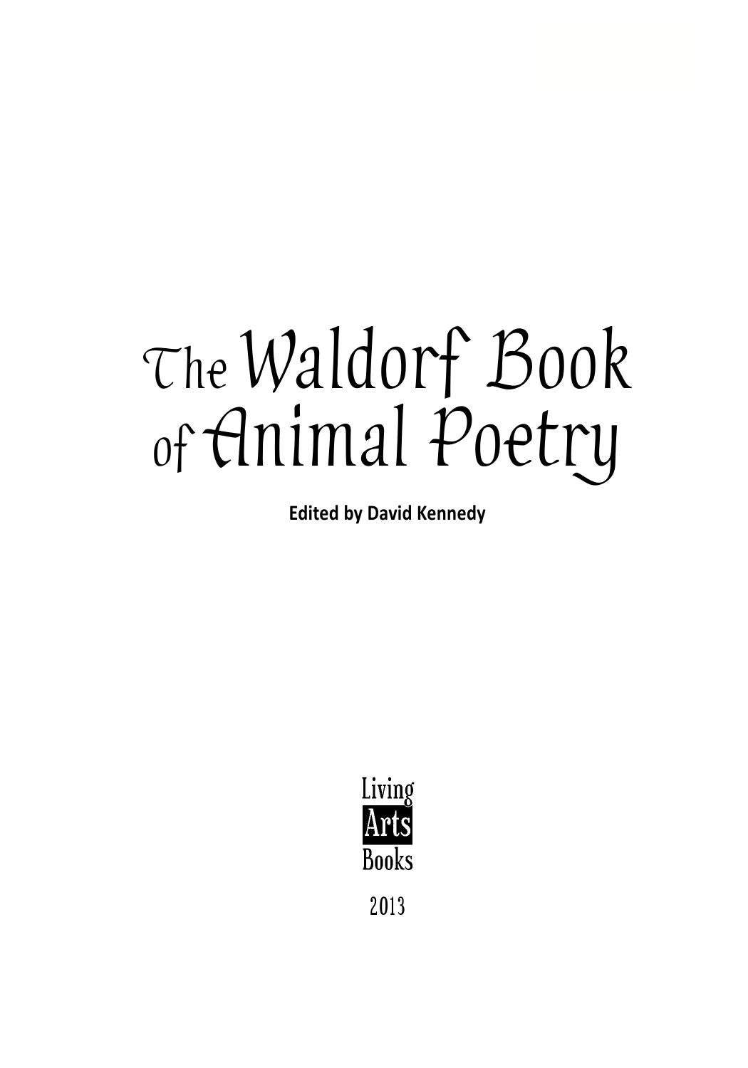 Swell Waldorf Book Of Animal Poetry Look Inside At Over 100 Uwap Interior Chair Design Uwaporg