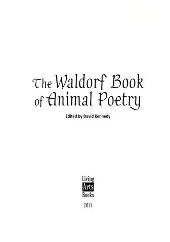 Waldorf book of animal poetry look inside at over 100 pages by iii the waldorf book of animal poetry sciox Choice Image