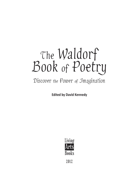 waldorf book of poetry u2014 look inside by david kennedy issuu