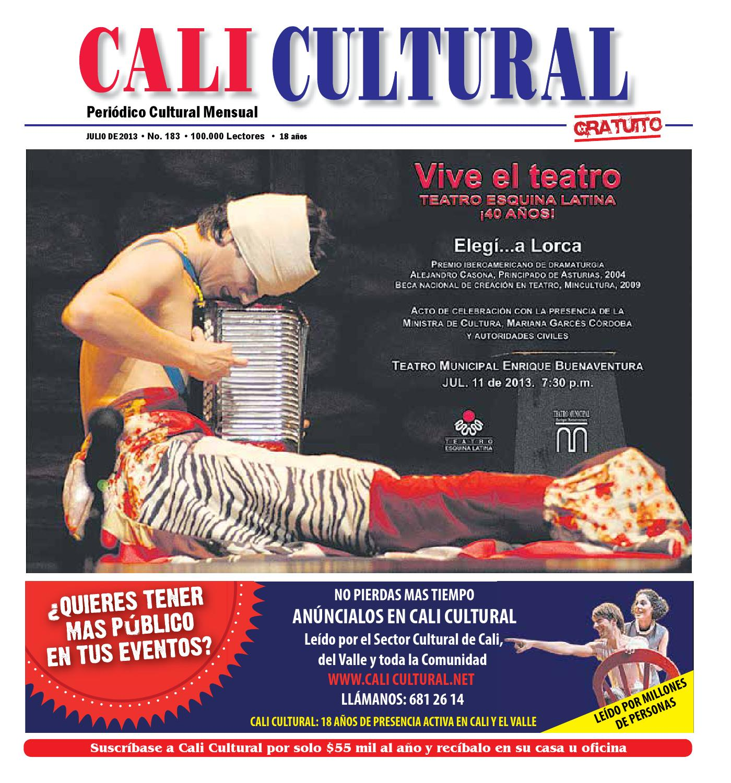 Cali Cultural Edicion Julio 2013 By Andres Felipe Ballesteros  # Muebles Roldan Tulua