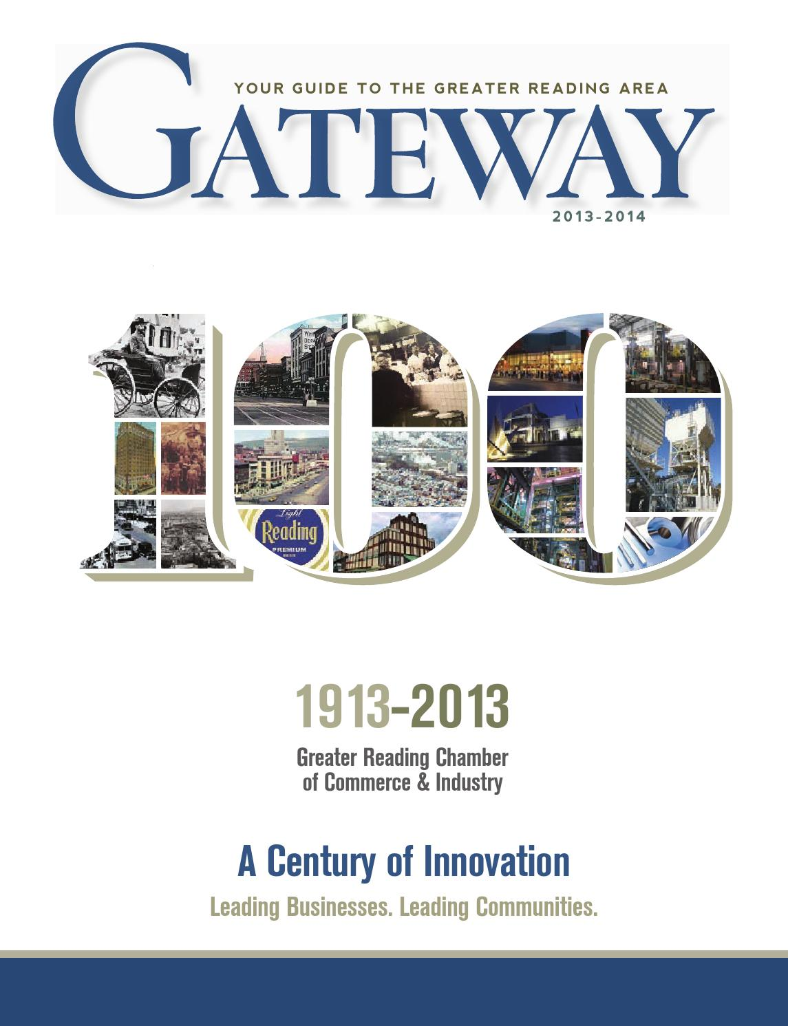 Greater Reading Chamber of Commerce & Industry Gateway (2013