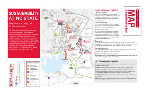 Nc State S Campus Sustainability Tour And Map By University