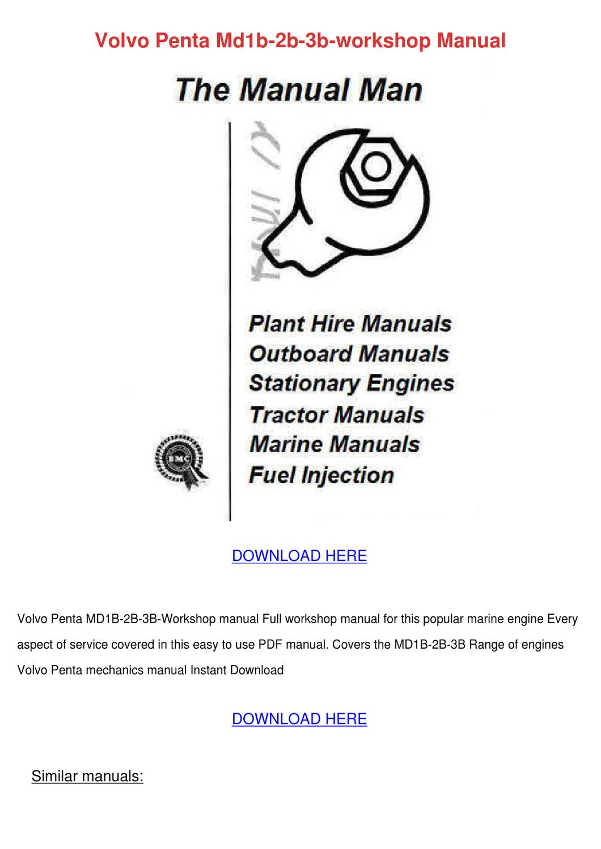 Array - volvo penta md1b 2b 3b workshop manual by louisakerr   issuu  rh   issuu com