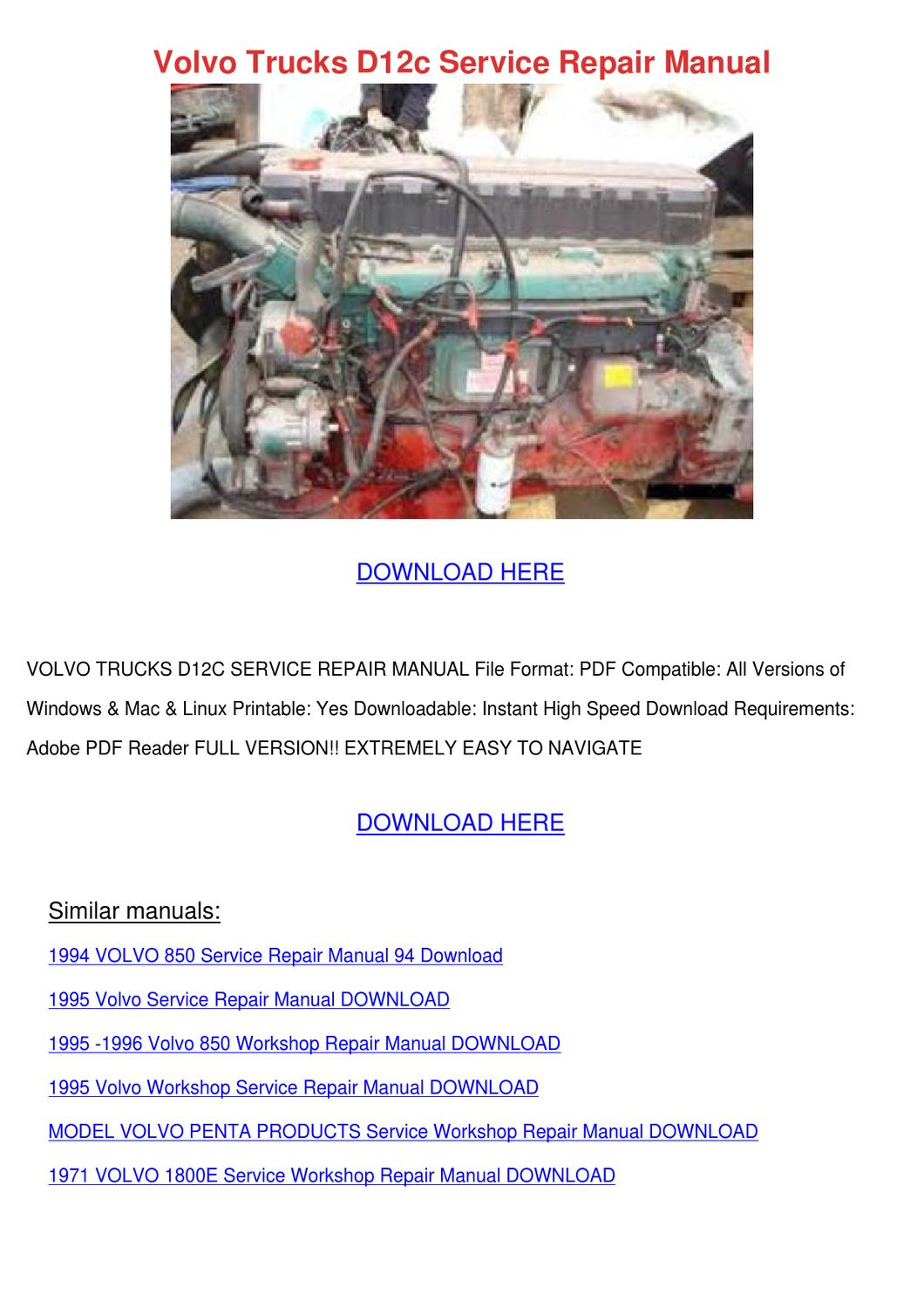 Volvo Trucks D12c Service Repair Manual by LouisaKerr - issuu on 440 bracket diagram, 440 engine diagram, 440 alternator diagram, 440 plug diagram,
