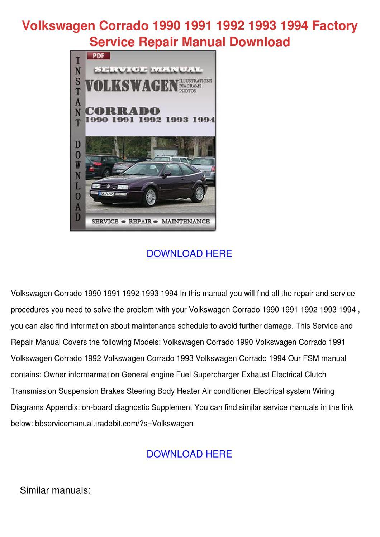Volkswagen Corrado 1990 1991 1992 1993 1994 F by LoydLoveless - issuu