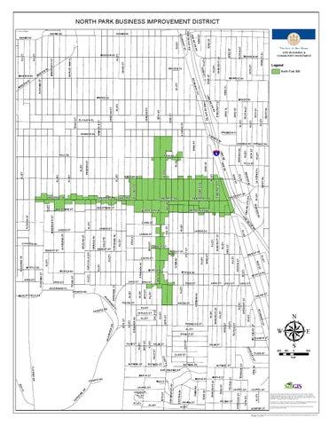 North Park Bid Map San Diego Ca By Paulina Lis Issuu